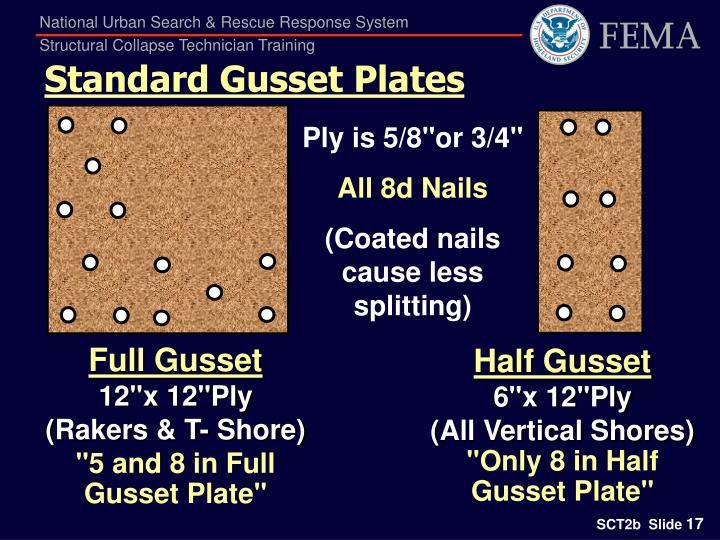 Standard Gusset Plates