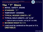 the t shore