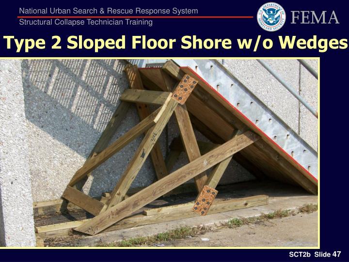 Type 2 Sloped Floor Shore w/o Wedges