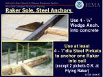 use 4 wedge anch into concrete
