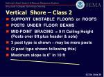 vertical shore class 2