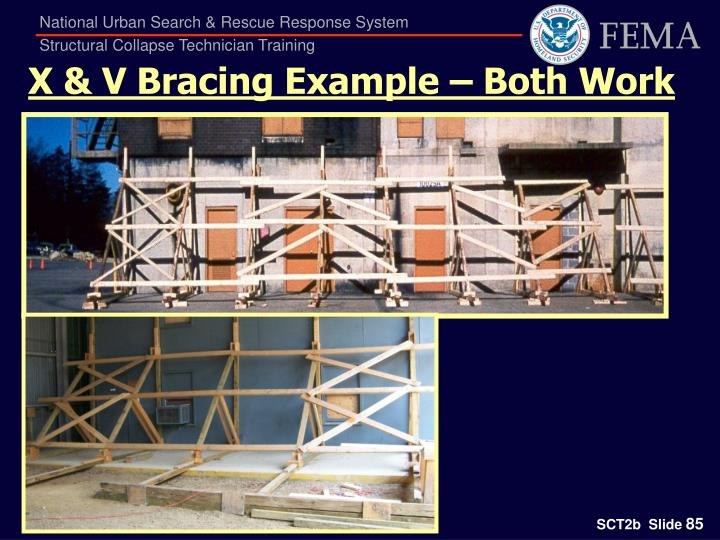 X & V Bracing Example – Both Work