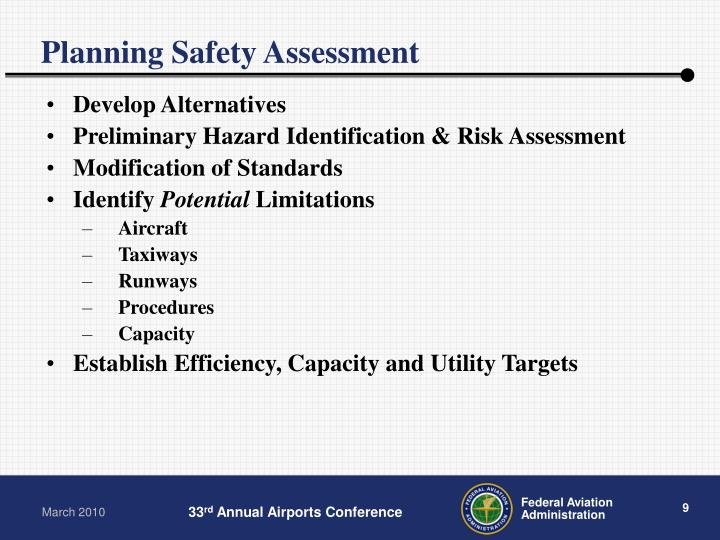 Planning Safety Assessment