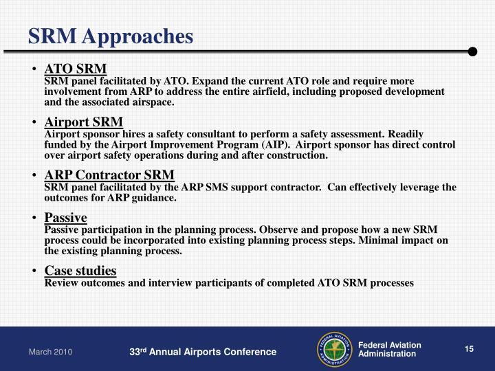 SRM Approaches