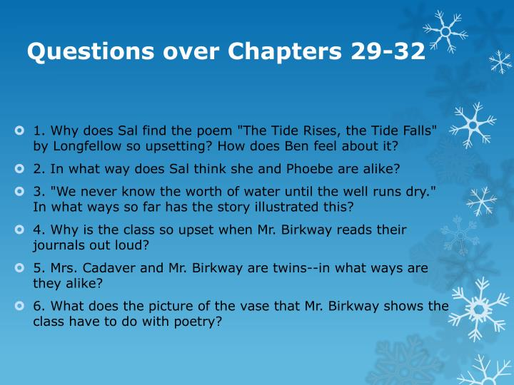 Questions over chapters 29 32
