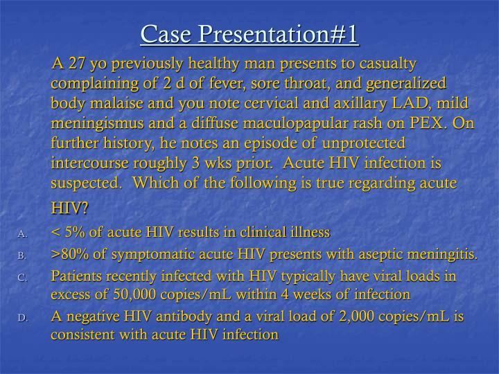 Case Presentation#1