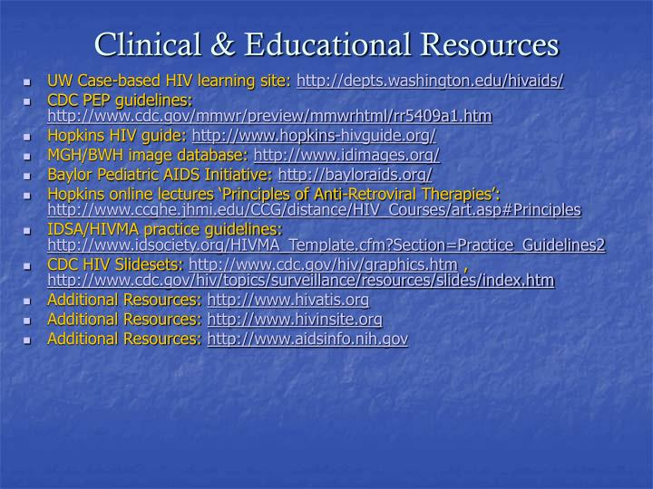 Clinical & Educational Resources
