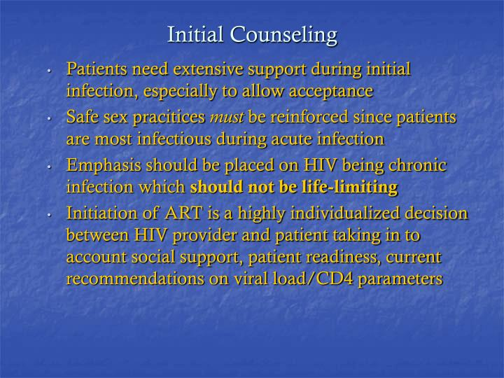 Initial Counseling