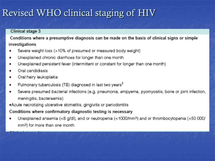 Revised WHO clinical staging of HIV