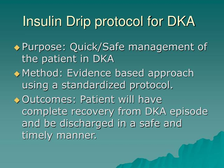 Insulin drip protocol for dka