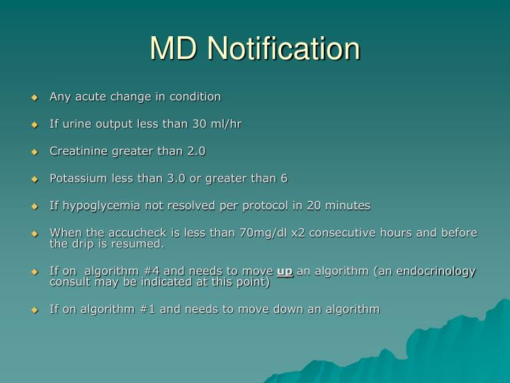 MD Notification