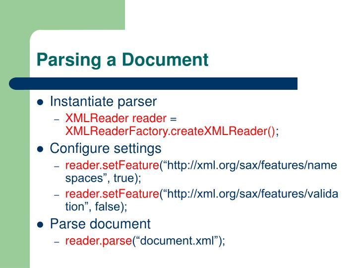 Parsing a Document