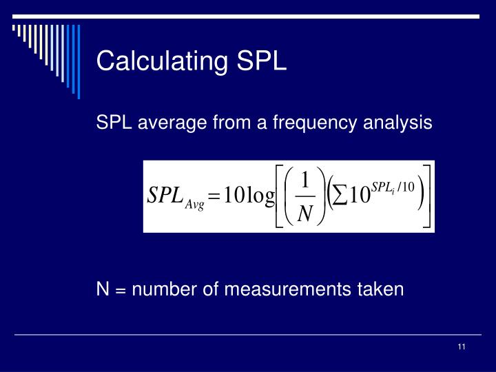 Calculating SPL