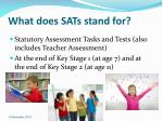 what does sats stand for