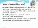 what help can children have