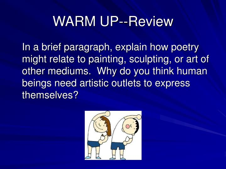 Warm up review