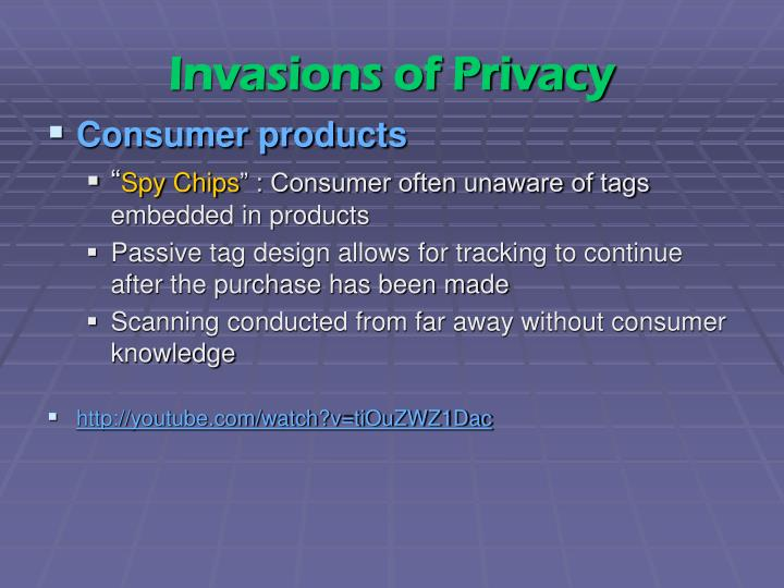 Invasions of Privacy