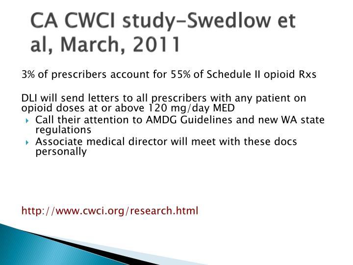 CA CWCI study-