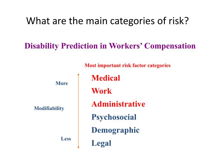 What are the main categories of risk?