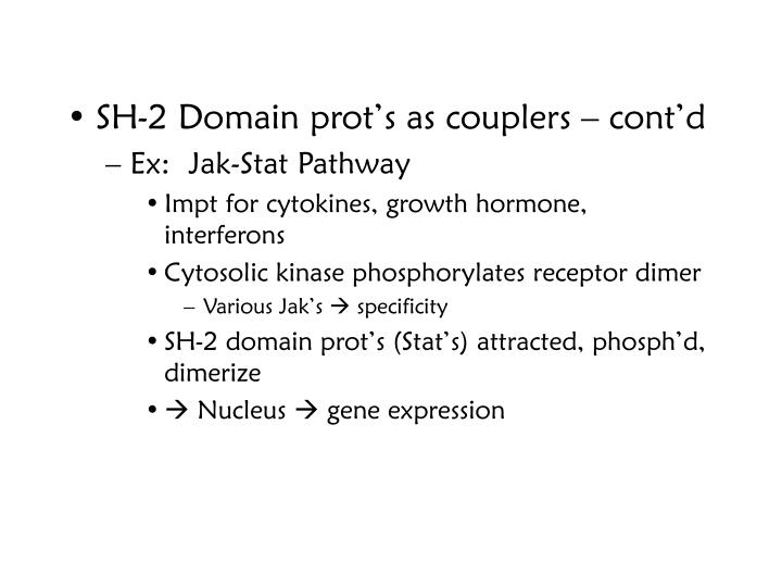 SH-2 Domain prot's as couplers – cont'd