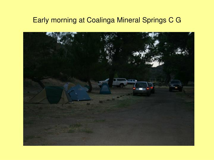 Early morning at Coalinga Mineral Springs C G