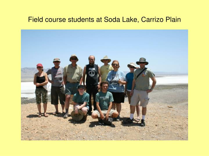 Field course students at Soda Lake, Carrizo Plain
