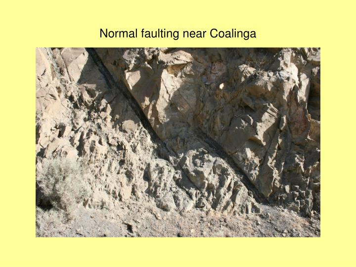 Normal faulting near Coalinga