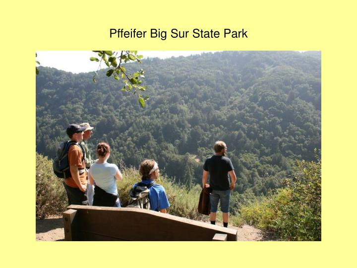 Pffeifer Big Sur State Park