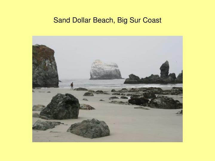 Sand Dollar Beach, Big Sur Coast
