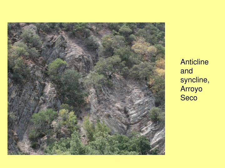 Anticline and syncline, Arroyo Seco