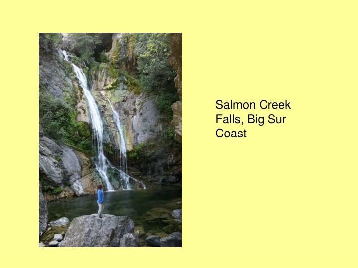 Salmon Creek Falls, Big Sur Coast