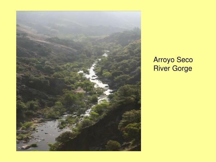 Arroyo Seco River Gorge