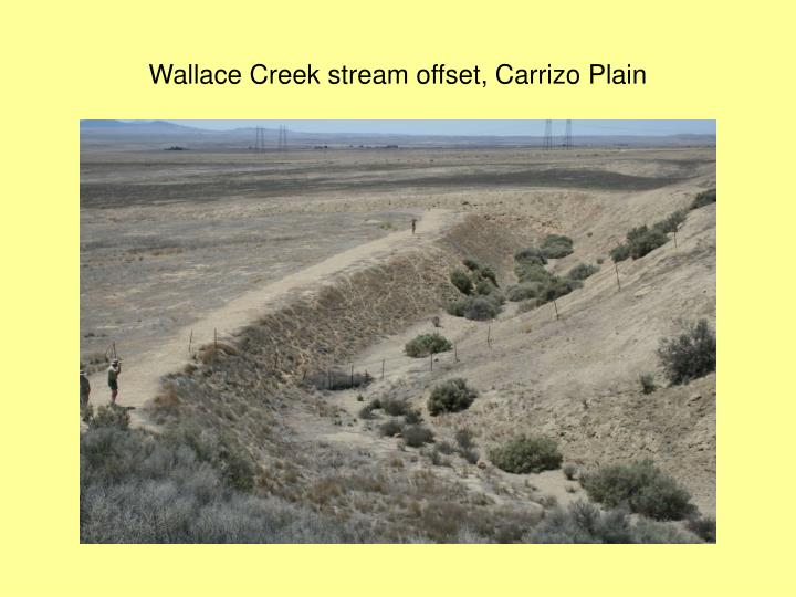 Wallace Creek stream offset, Carrizo Plain