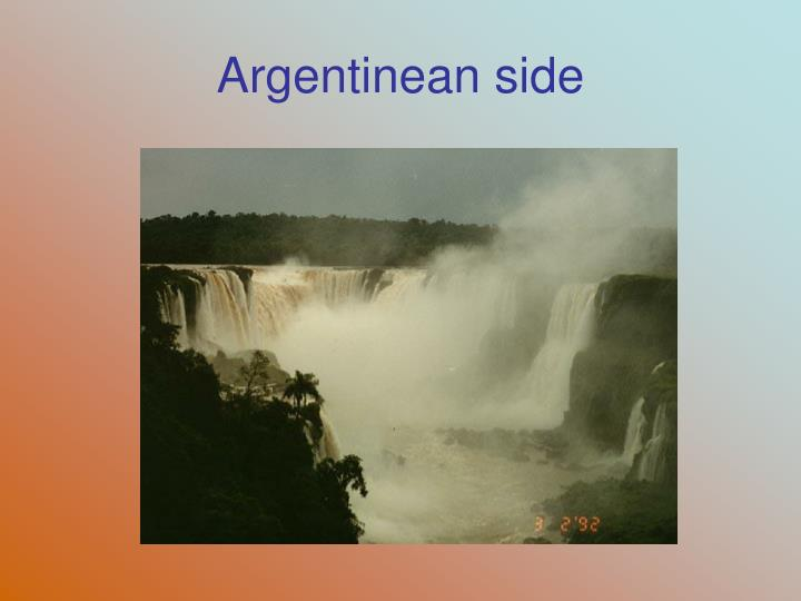 Argentinean side