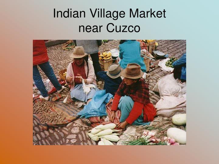 Indian Village Market