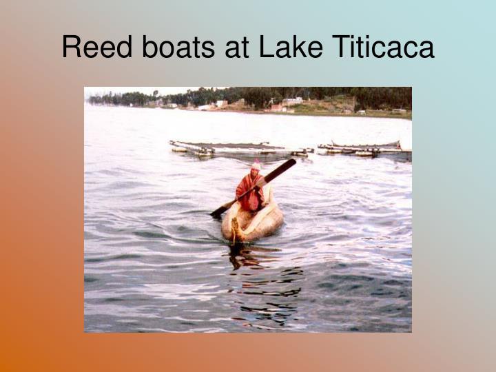 Reed boats at Lake Titicaca