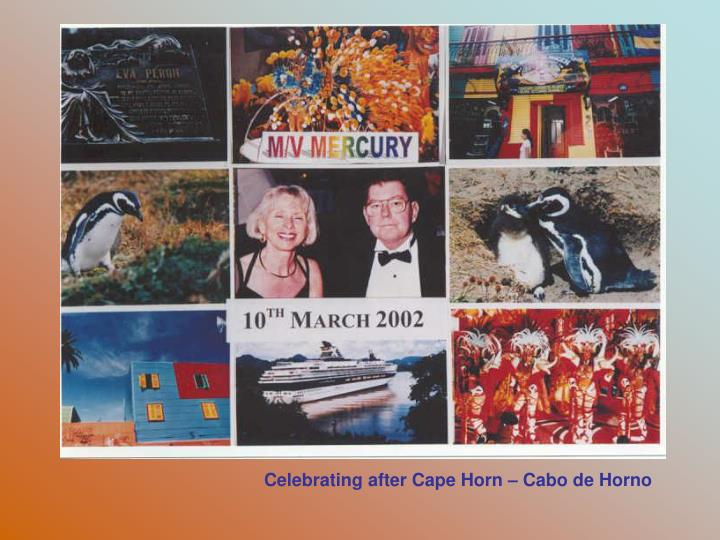 Celebrating after Cape Horn – Cabo de Horno
