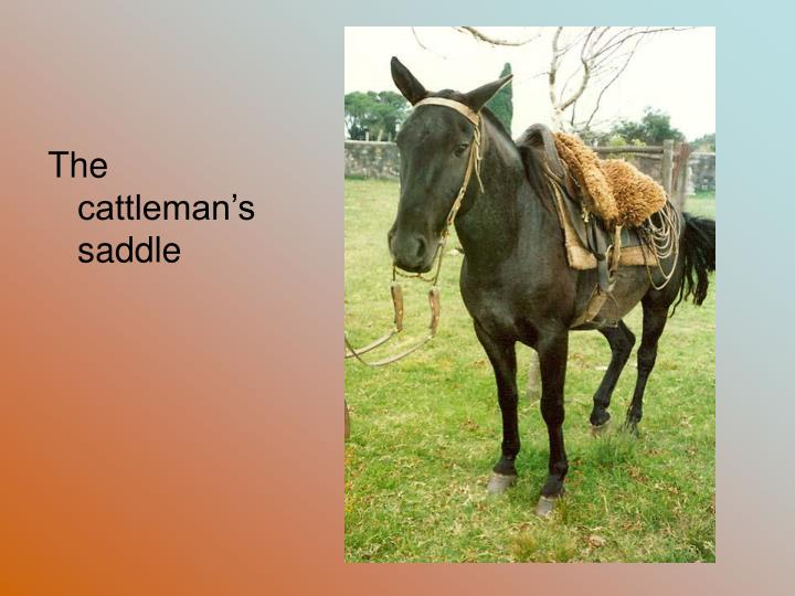 The cattleman's saddle