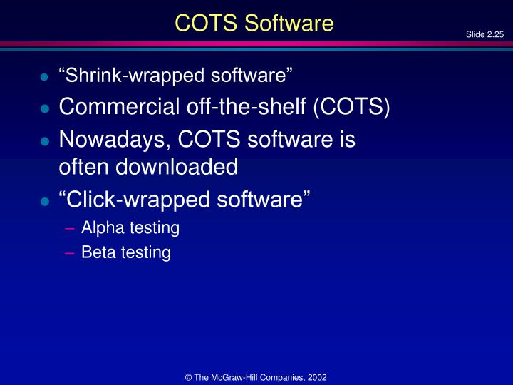 COTS Software
