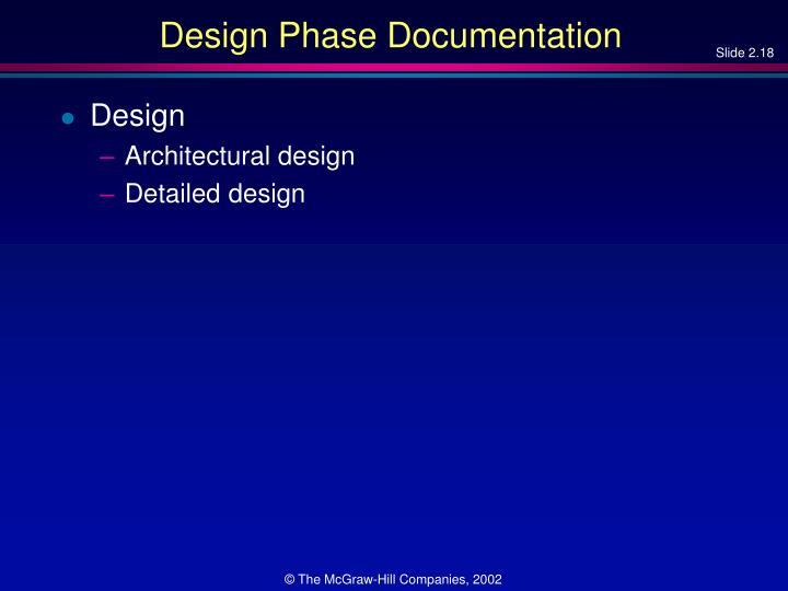 Design Phase Documentation