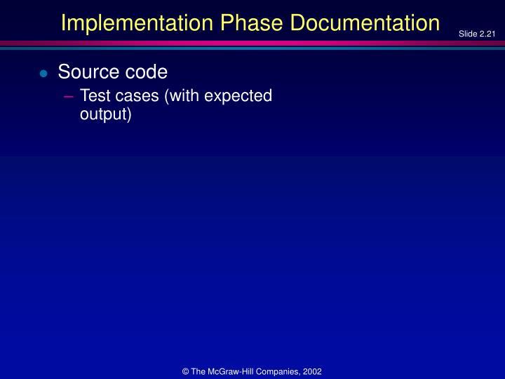 Implementation Phase Documentation