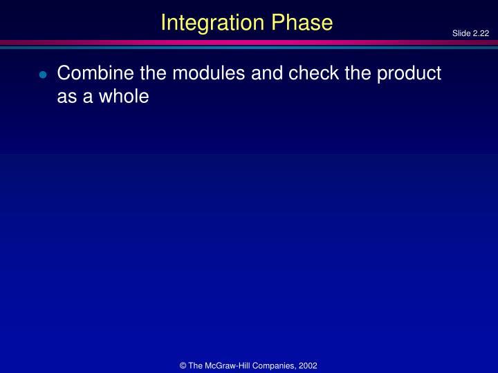 Integration Phase