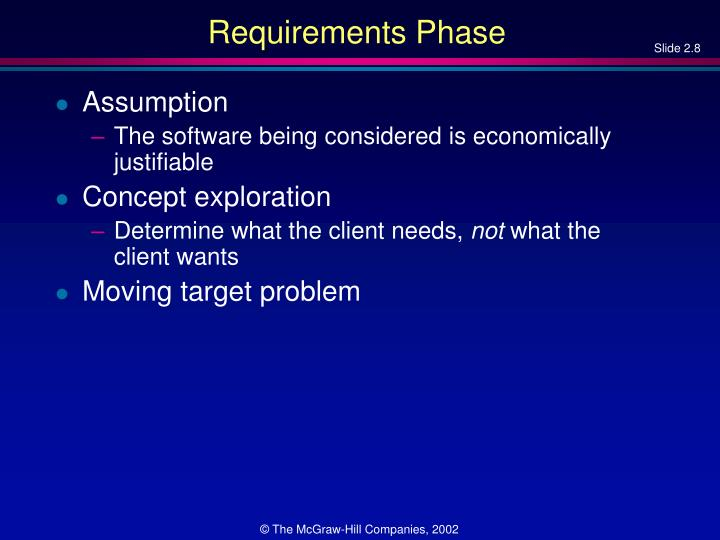 Requirements Phase