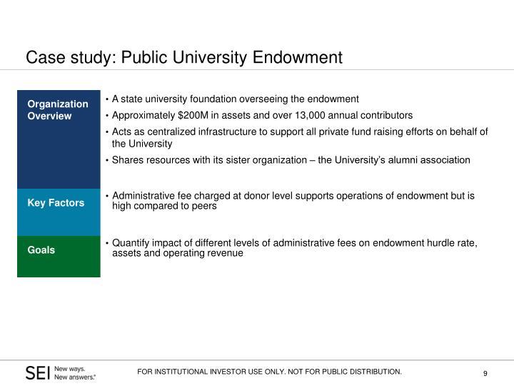 Case study: Public University Endowment