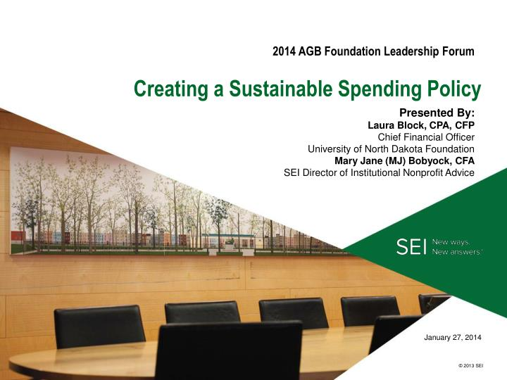 Creating a sustainable spending policy
