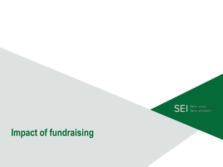 Impact of fundraising