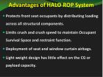 advantages of halo rop system