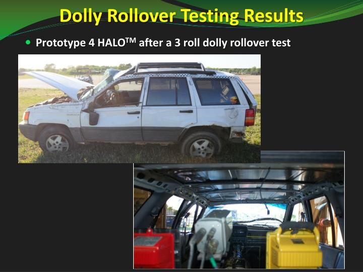 Dolly Rollover Testing Results