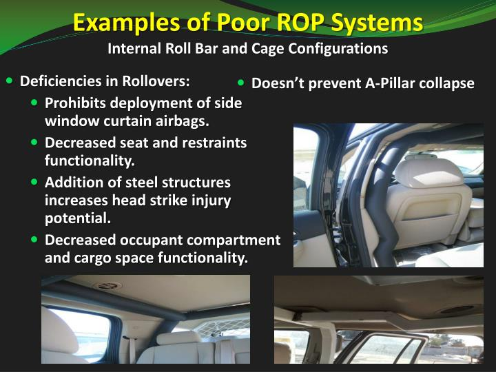 Examples of Poor ROP Systems