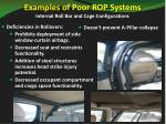 examples of poor rop systems internal roll bar and cage configurations